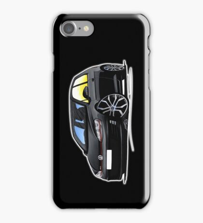 VW Golf (Mk7) GTi Black iPhone Case/Skin