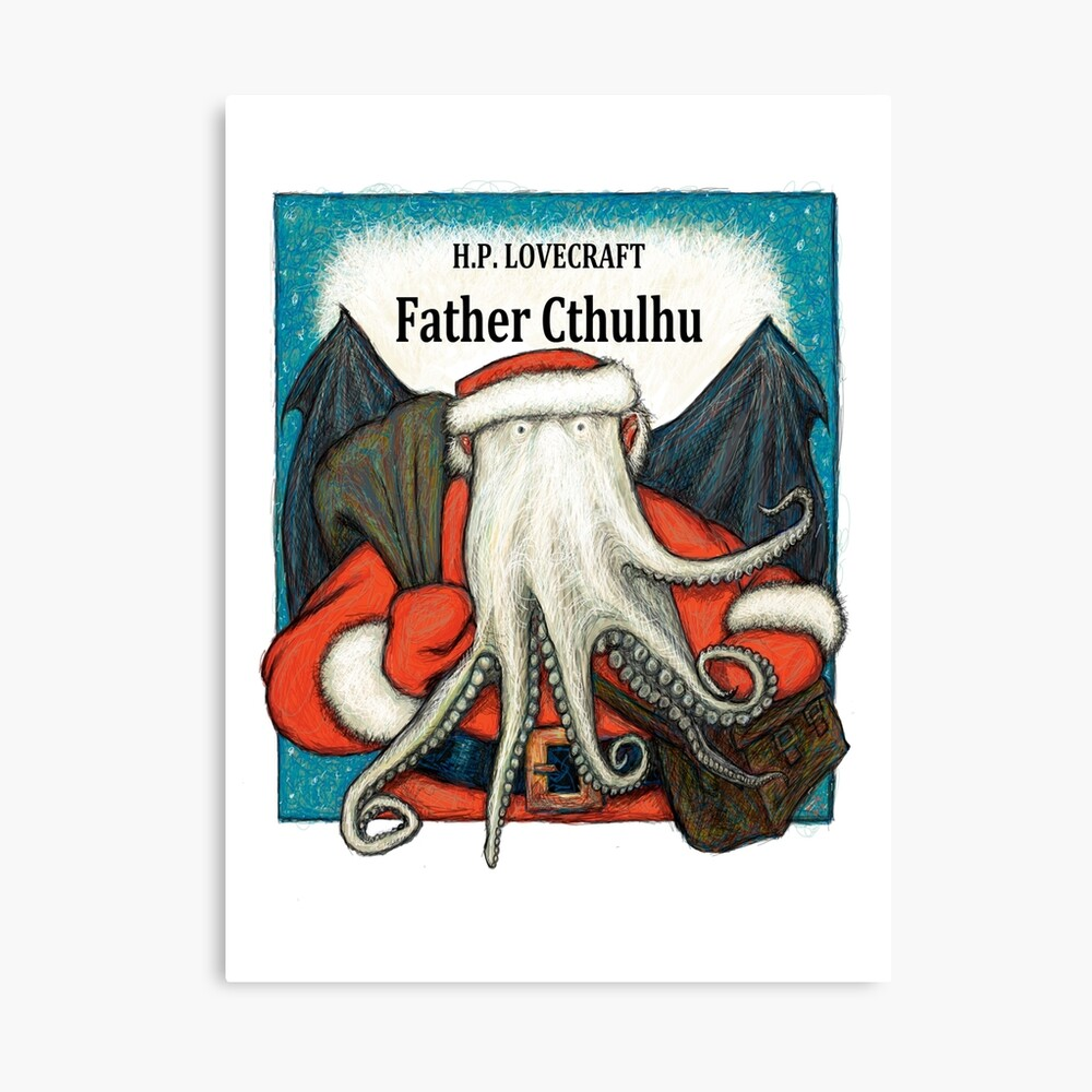 Father Cthulhu Canvas Print