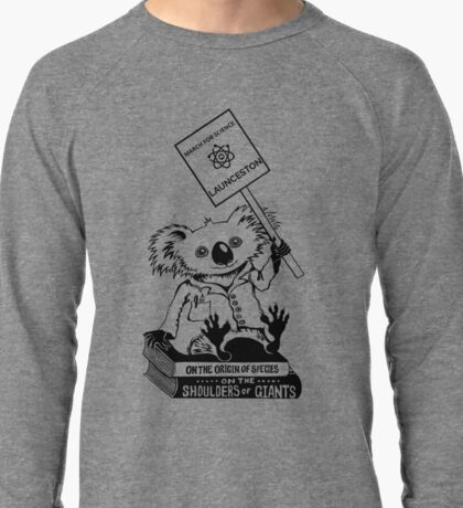 March for Science Launceston – Koala, black Lightweight Sweatshirt