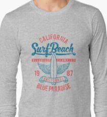 California Surf Beach Blue Paradise T-Shirt