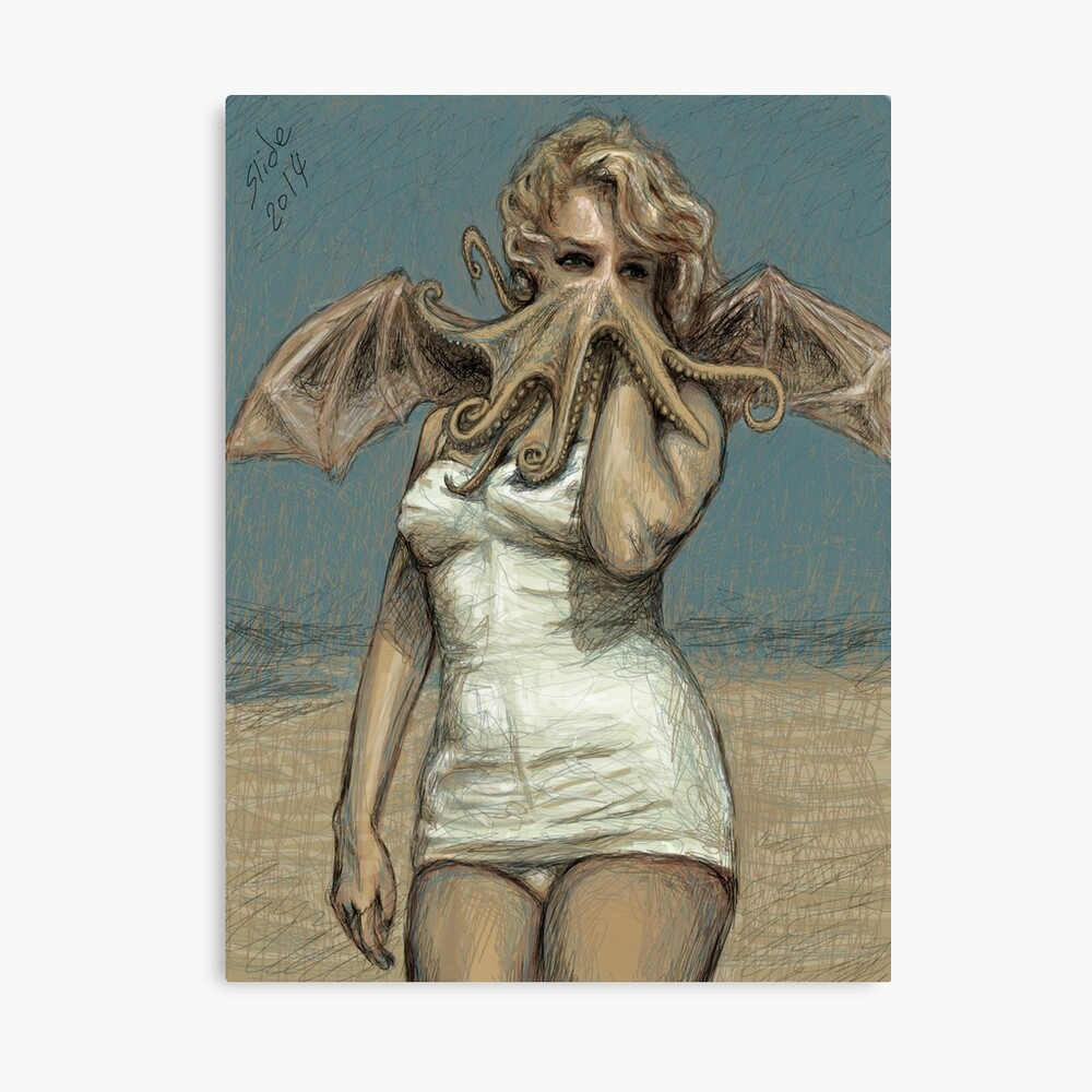 """""""Call of Cthulyn, 2014""""  Canvas Print"""