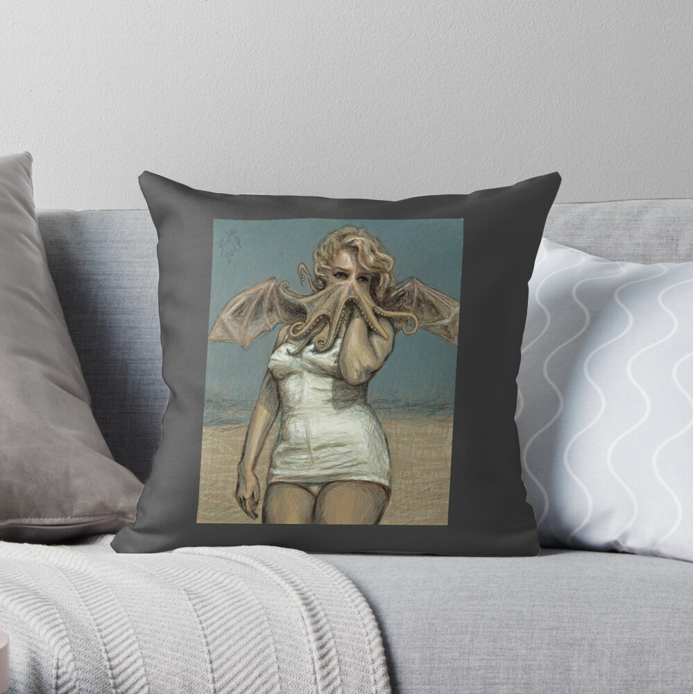 """""""Call of Cthulyn, 2014""""  Throw Pillow"""