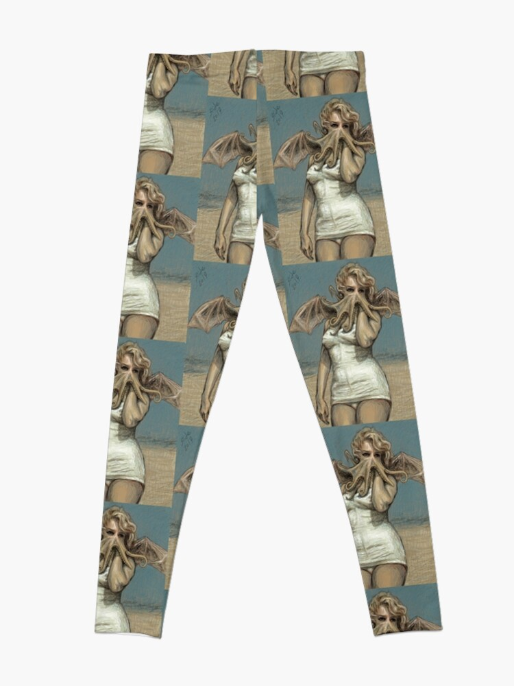 "Alternate view of ""Call of Cthulyn, 2014""  Leggings"