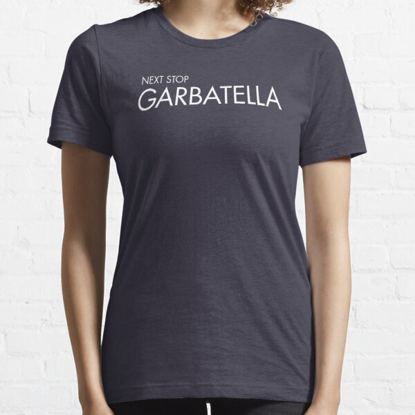 Next Stop Garbatella White Text Essential T-Shirt