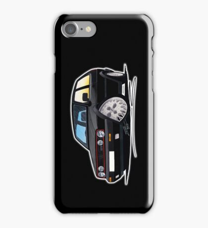 VW Golf GTi (Mk2) Black iPhone Case/Skin