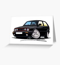 VW Golf GTi (Mk2) Black Greeting Card