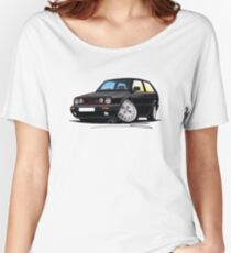 VW Golf GTi (Mk2) Black Women's Relaxed Fit T-Shirt