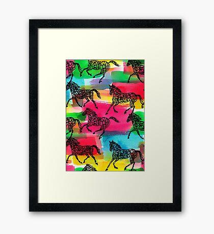 Horse Stampede Framed Print