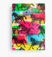 Horse Stampede Metal Print