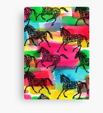 Horse Stampede Canvas Print