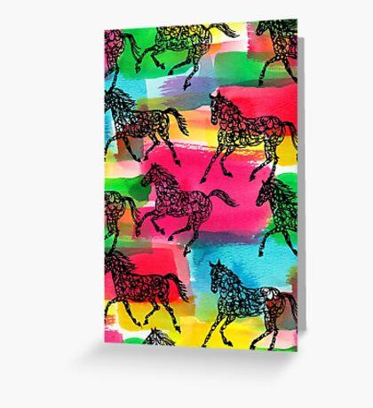 Horse Stampede Greeting Card