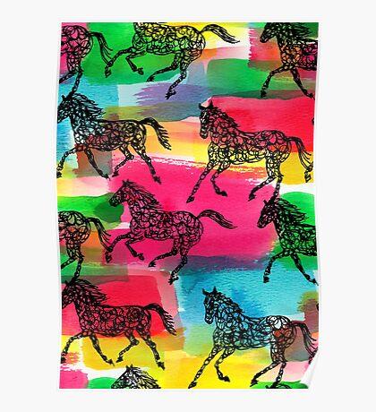 Horse Stampede Poster
