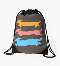 Run Doxies Run Drawstring Bag