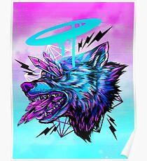 Kristallwolf Poster
