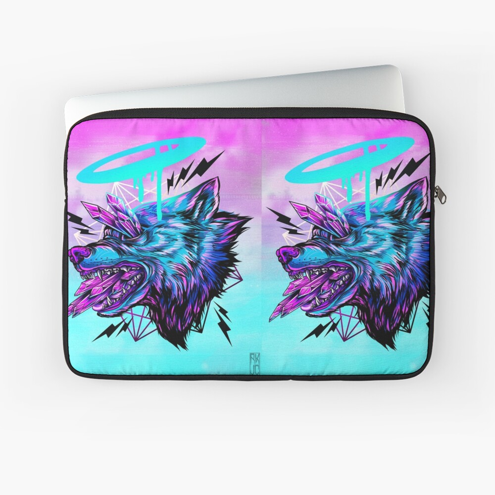 Kristallwolf Laptoptasche