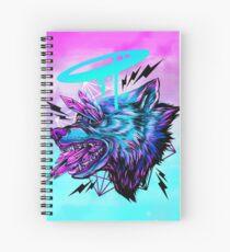 Crystal Wolf  Spiral Notebook