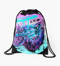 Crystal Wolf  Drawstring Bag
