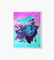 Crystal Wolf  Art Board Print