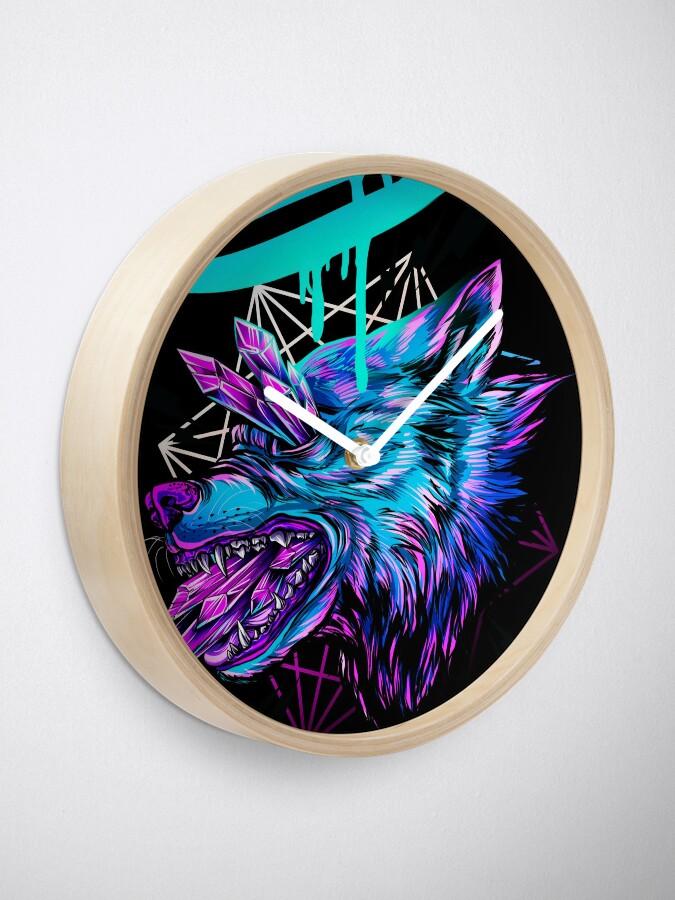 Vista alternativa de Reloj Lobo de cristal