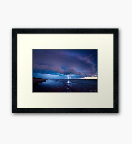 Electric Blue Framed Print