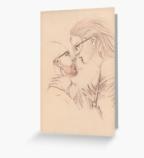 Intellectual Lovers Greeting Card