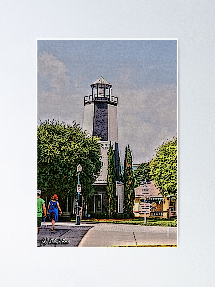 Alternate view of Lighthouse Shops Poster