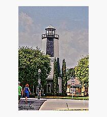 Lighthouse Shops Photographic Print
