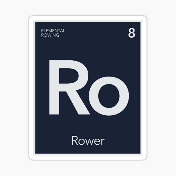Elemental Rowing - Basic Rower Sticker
