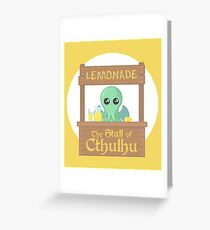Stall of Cthulhu Lemon 2 Greeting Card