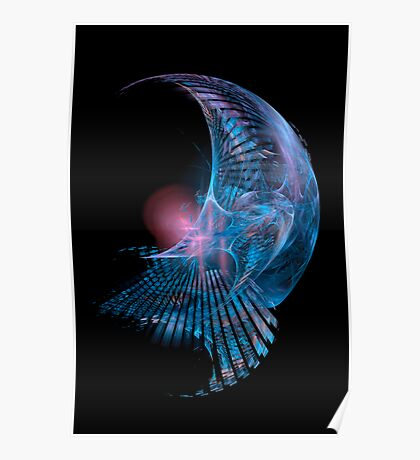 Blue Curves Poster