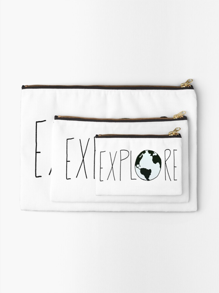 Alternate view of Explore the Globe Zipper Pouch