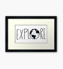 Explore the Globe Framed Print