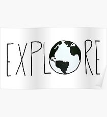 Explore the Globe Poster