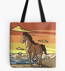 Tina's Beach Horse Poster Tote Bag