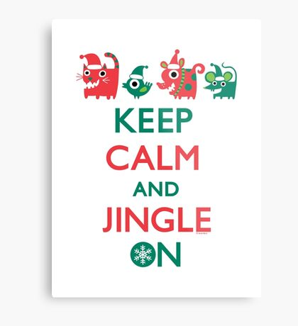 Keep Calm and Jingle On Metal Print