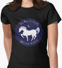 Beautiful Nightmare Womens Fitted T-Shirt