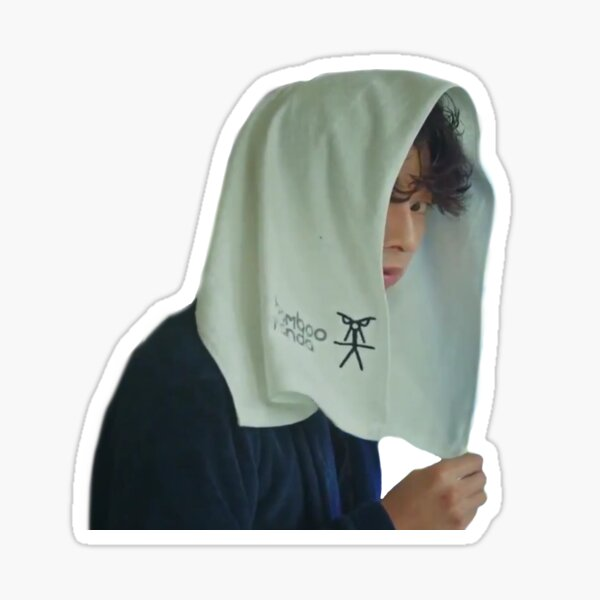 Kim Shin in a Towel Sticker