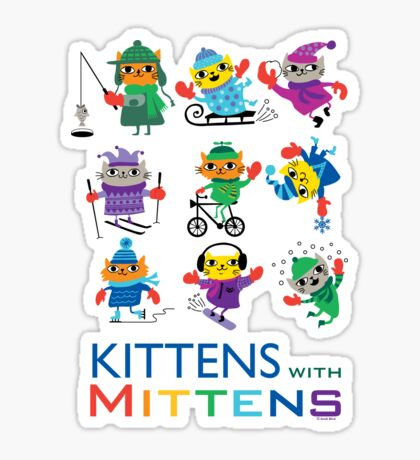Kittens with Mittens Sticker