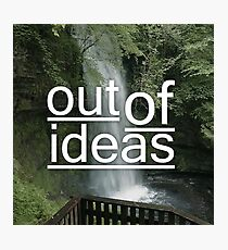 out of ideas. Photographic Print