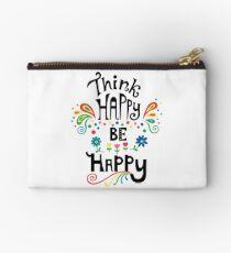 Think Happy Be Happy Studio Pouch