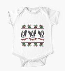 Holiday Boston Terrier One Piece - Short Sleeve