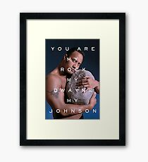 You Are My Rock Framed Print