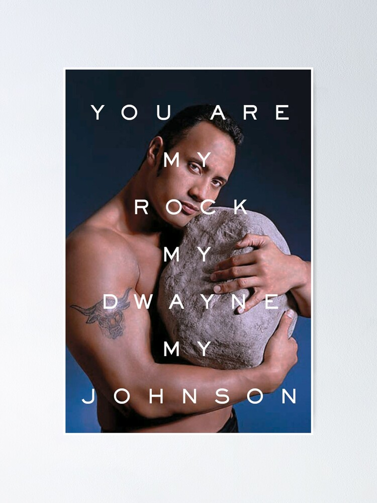 Alternate view of You Are My Rock Poster