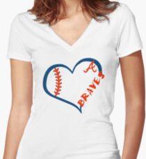 Atlanta Braves Women's Fitted V-Neck T-Shirt