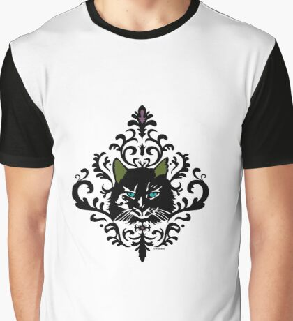 cat nap damask Graphic T-Shirt