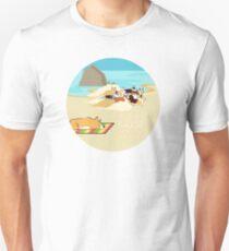 Oregon Corgi Beach Day T-Shirt
