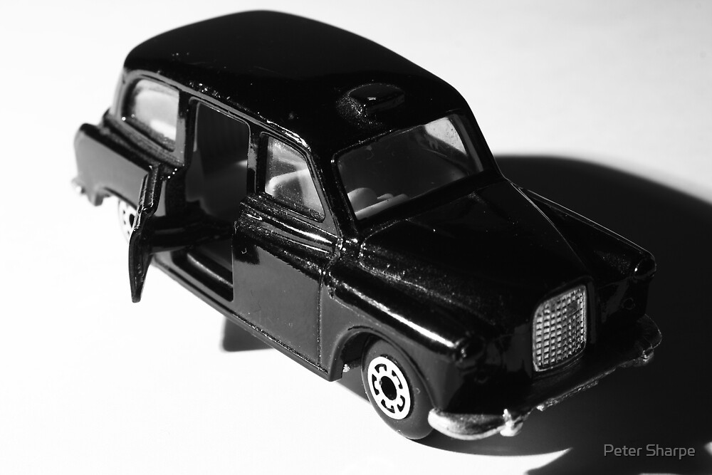 The little black taxi by Peter Sharpe