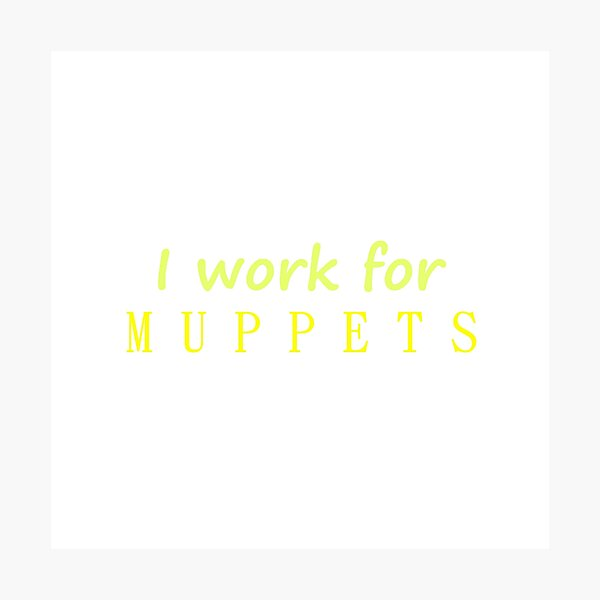 I work for Muppets Photographic Print