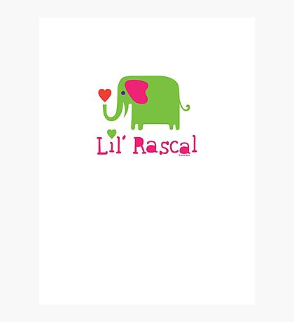 Elephant Lil Rascal green Photographic Print