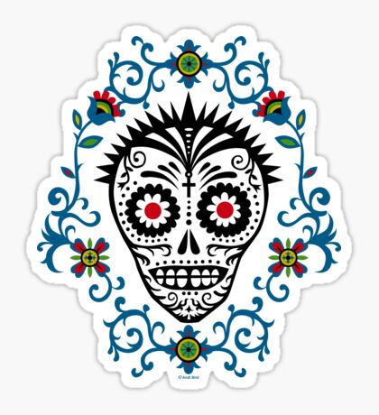 Sugar Skull Voodoo Sticker